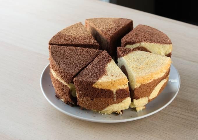 Marble Chiffon Cake / Tri-Color Chiffon