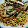 spicy garlic noodle and grilled chicken recipe main photo