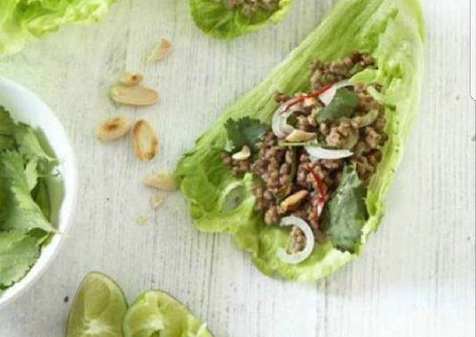 Mince on lettuce (san choy pau)