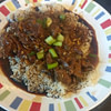 beef with spicy garlic sauce with rice instant pot ip recipe main photo