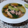chicken and ginger soup with chayote spinachtinolang manok recipe main photo