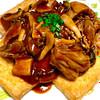 tofu grill with red wine mushroom sauce recipe main photo