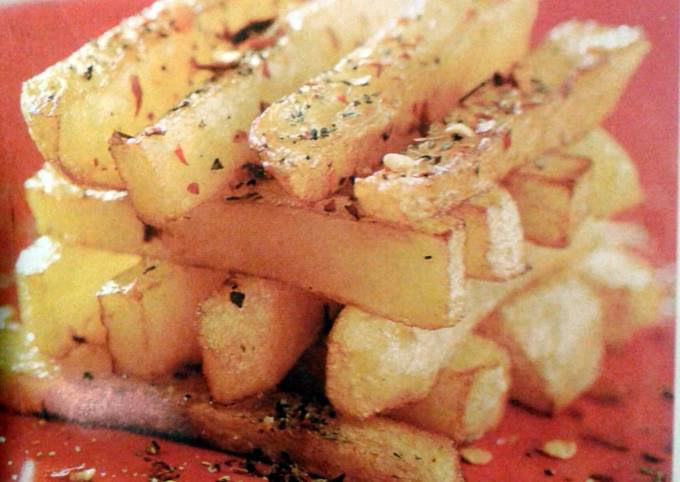 French Fries with numbing chilli salt