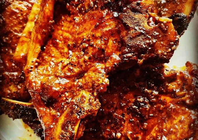 Honey Garlic Instant Pot Pork Chops