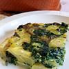 potato omelette with spinach and mushroom frittata di patate con spinaci e funghi recipe main photo