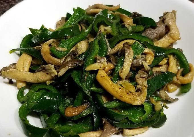Oyster mushroom and chili stirfry
