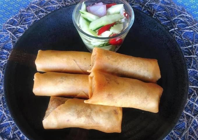 🧑🏽🍳🧑🏼🍳 Crispy Vegetable Spring rolls Recipe • With Mushroom filling • Vegetarian Recipe