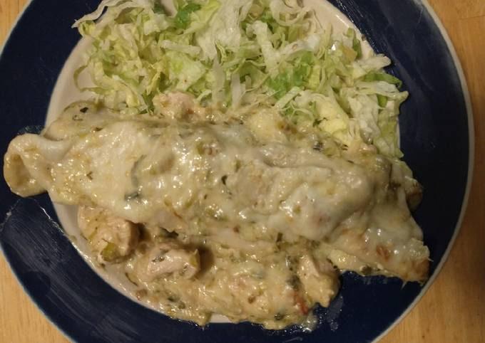 Chicken Enchiladas (white sauce)