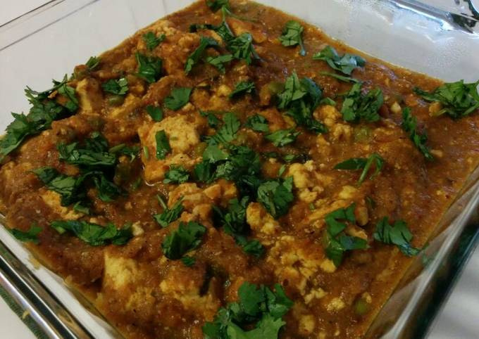 Paneer butter mutter masala