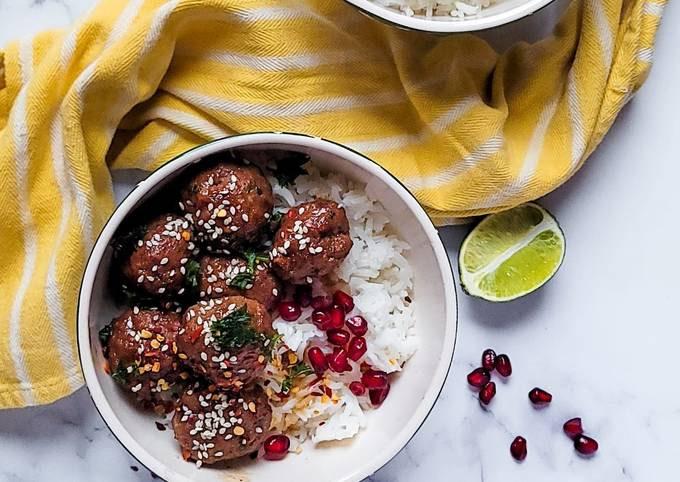 Mongolian Beef Meatballs