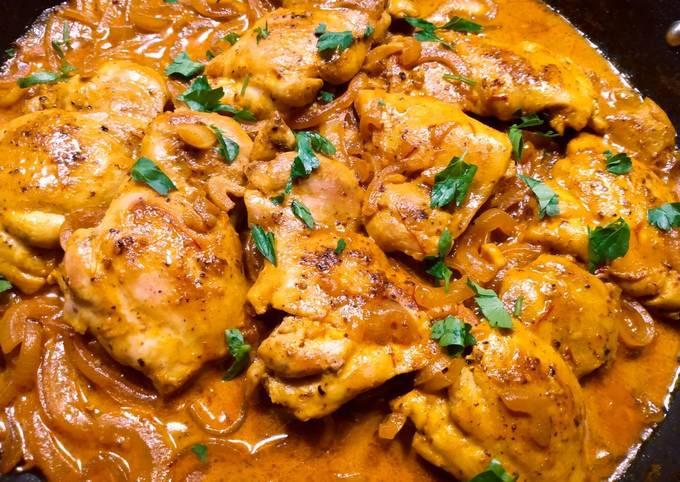 Creamy saffron chicken