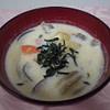 pork miso soup with mushrooms and milk recipe main photo