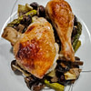 chicken mushroom asparagus and leek tray bake recipe main photo