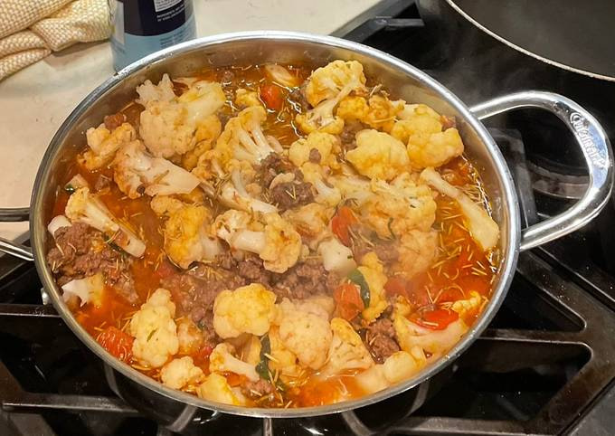 Minced meat cauliflower