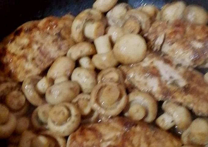 Glazed Chicken with Mushroom