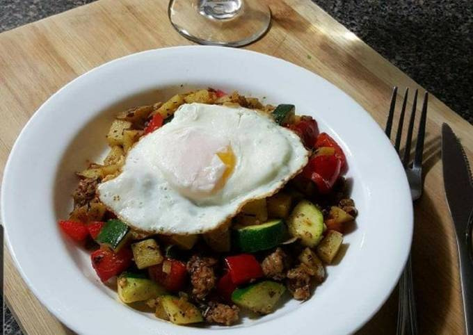 Breakfast Potato and Sausage Hash (4 dinner)