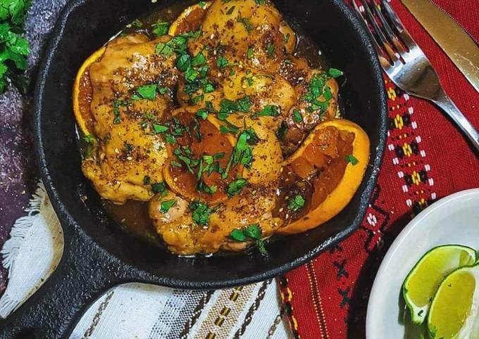 Spicy Za'atar Honey Citrus Chicken Thighs