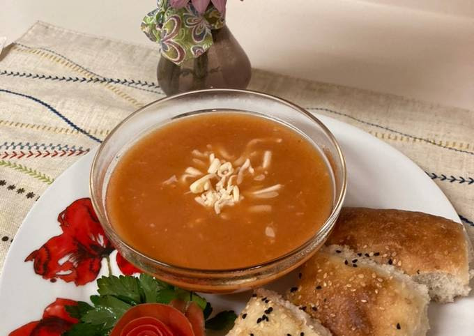 Tomato Cream Soup/Sup Krim Tomat ala Turki (Ibu Mertua)/Domatesli Corbasi