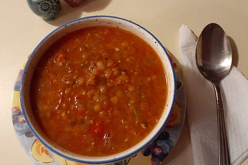 lentil soup in instant pot recipe main photo