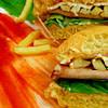 chicken salami burger instant recipe main photo