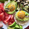 eggs in avo with mushrooms and onion recipe main photo
