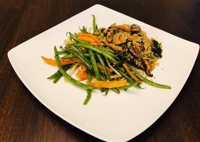 Quinoa Mushrooms plated