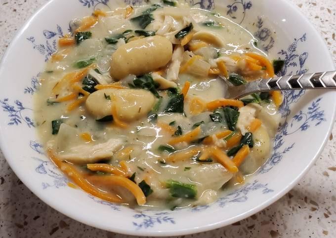 Chicken and Cauliflower Gnocchi Soup