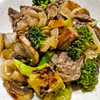 stir fry of lime beef broccoli and mushrooms recipe main photo