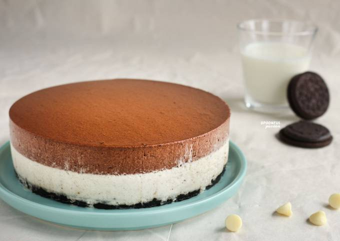 Oreo Chocolate Mousse Cake [No-Bake]