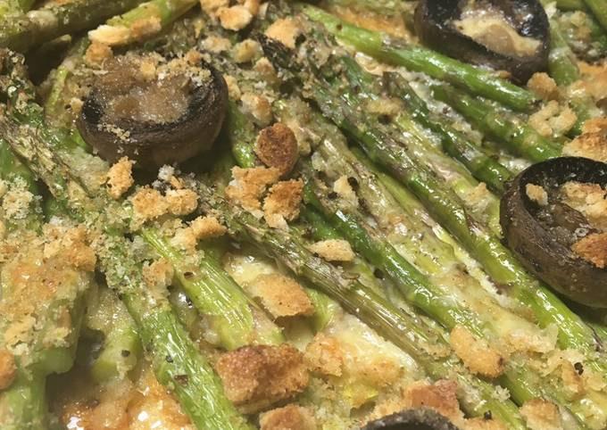 Roasted Asparagus with Mushrooms