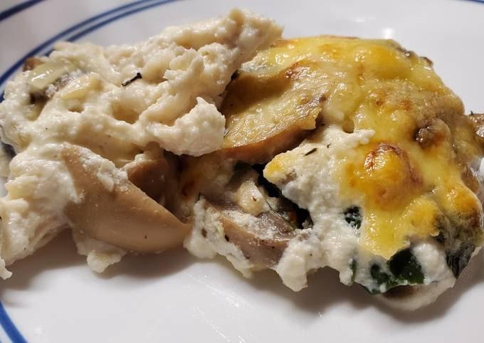 Chicken Spinach Mushroom Bake