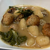 meatball and cauliflower gnocchi with kale soup recipe main photo