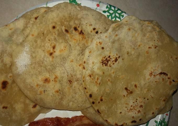 Roti bread (Buttery Indian flat bread)