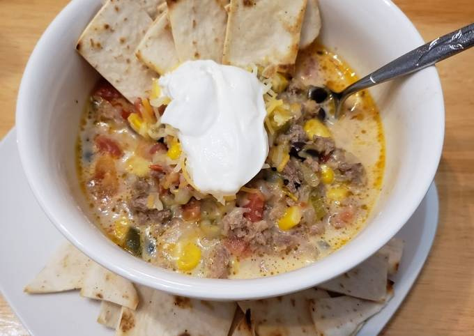 Keto THM Queso Taco Soup