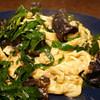 fluffy scrambled eggswith garlic chive mushroom recipe main photo