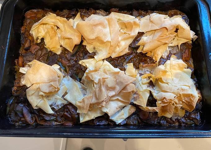 Mushroom & Courgette Pie