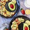 ham and mushrooms scramble eggs recipe main photo