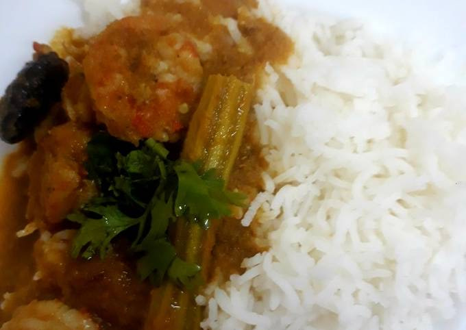 PRAWN CURRY with DRUMSTICKS 😊