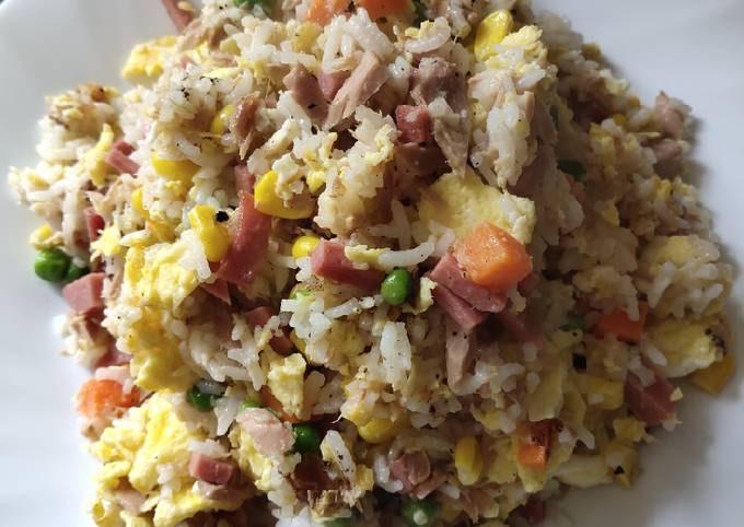 Tuna and Ham Fried Rice